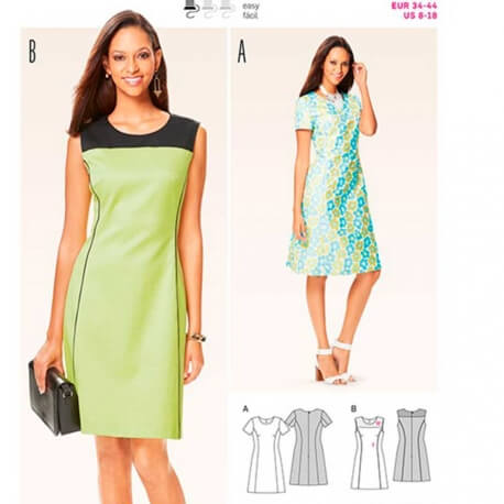 Patron de robe femme - Burda 6627