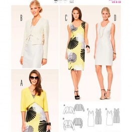 Patron de robe & veste femme - Burda 6773