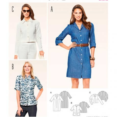 Patron de robe & veste femme - Burda 6760