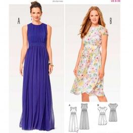 Patron de robe du soir femme - Burda 6518