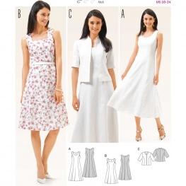Patron de robe & veste femme - Burda 6687