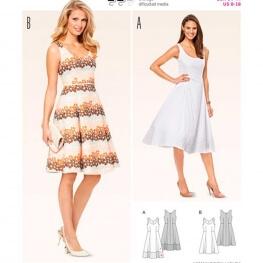Patron de robe femme - Burda 6758