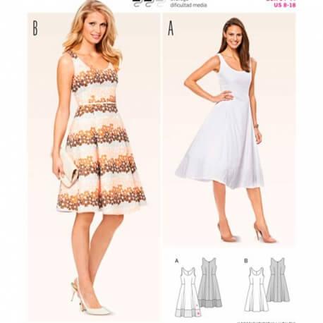 f1dce0b0e8e9d Patron de robe femme, Burda 6758