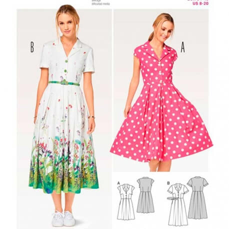 Patron de robe femme - Burda 6520