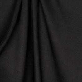 Tissu jersey uni ultra doux noir - 100% coton biologique