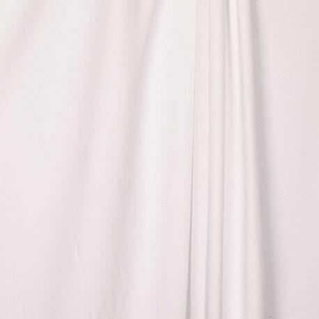Tissu jersey uni ultra doux blanc - 100% coton biologique