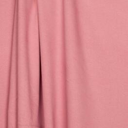 Tissu jersey uni ultra doux vieux rose - 100% coton biologique
