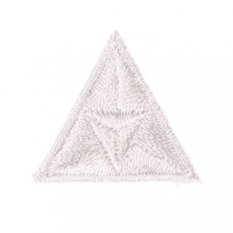 Ecusson mouche triangle - Blanc
