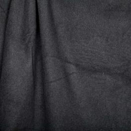 Tissu polaire uni ultra doux gris anthracite - 100% coton biologique