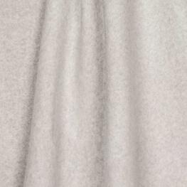 Tissu polaire uni ultra doux gris clair - 100% coton biologique