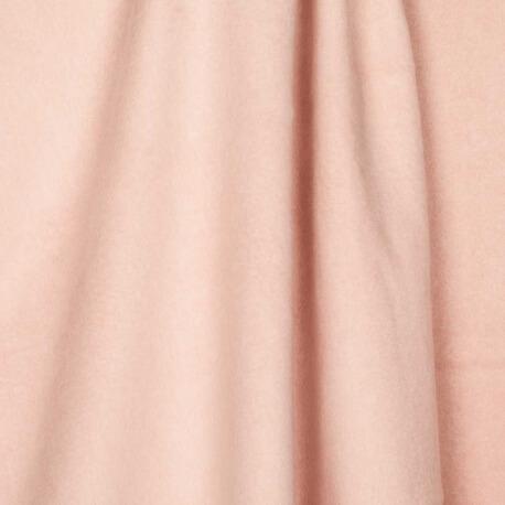 Tissu polaire uni ultra doux rose - 100% coton biologique