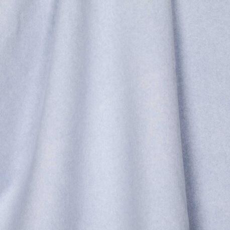 Tissu polaire uni ultra doux bleu - 100% coton biologique