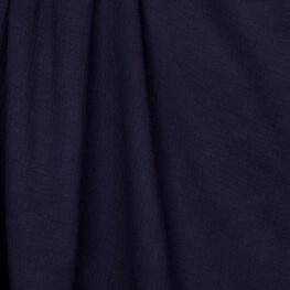 Tissu coton double gaze - Bleu marine