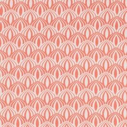 Tissu coton spring graphic - Corail