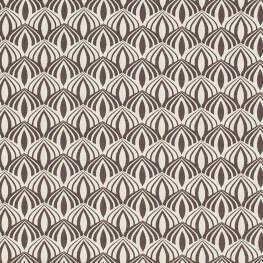 Tissu coton spring graphic - Gris