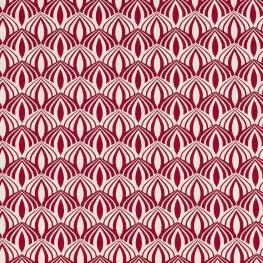 Tissu coton spring graphic - Rose cerise