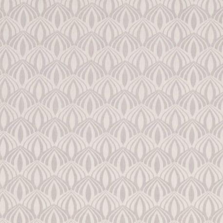 Tissu coton spring graphic - Gris clair
