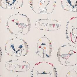 Tissu jersey animals - Gris