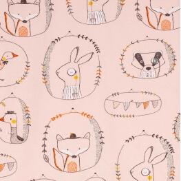 Tissu jersey animals - Rose