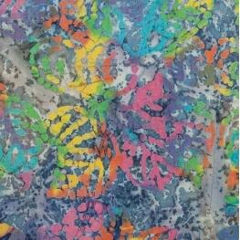 Tissu coton fantaisie batik - Milticolore
