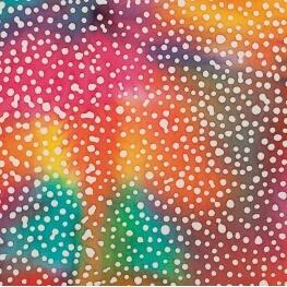 Tissu coton fantaisie batik - Tons chaud