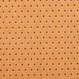 Tissu coton cretonne étoiles asanoha - Orange mandarine