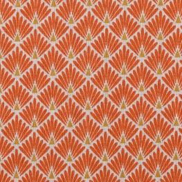 Tissu coton cretonne écailles dorées - Orange