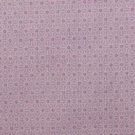 Tissu coton cretonne étoiles asanoha - Violet Lavande