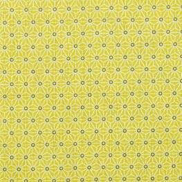 Tissu coton cretonne étoiles asanoha - Vert citronnelle