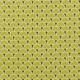 Tissu coton cretonne éventails dorées - Vert citronnelle