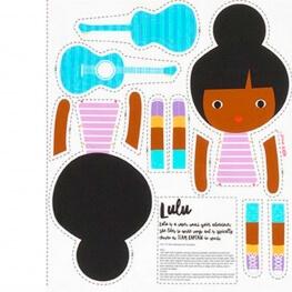 Kit DIY funny poupées - Lulu, la guitariste