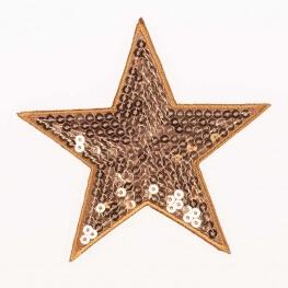 Ecusson étoiles à sequin - Doré