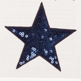 Ecusson étoiles à sequin - Bleu