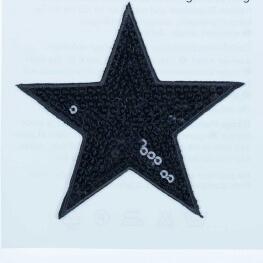 Ecusson étoiles à sequin - Noir
