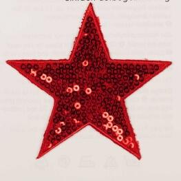 Ecusson étoiles à sequin - Rouge