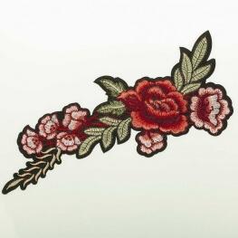 Ecusson fleurs XL - Rouge