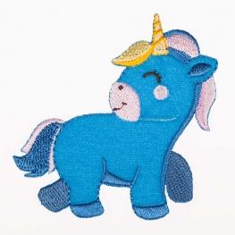 Ecusson bébé licorne - Bleu
