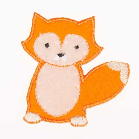 Ecusson renard feutrine - Orange