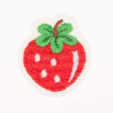 Ecusson fruits fraise - Rouge