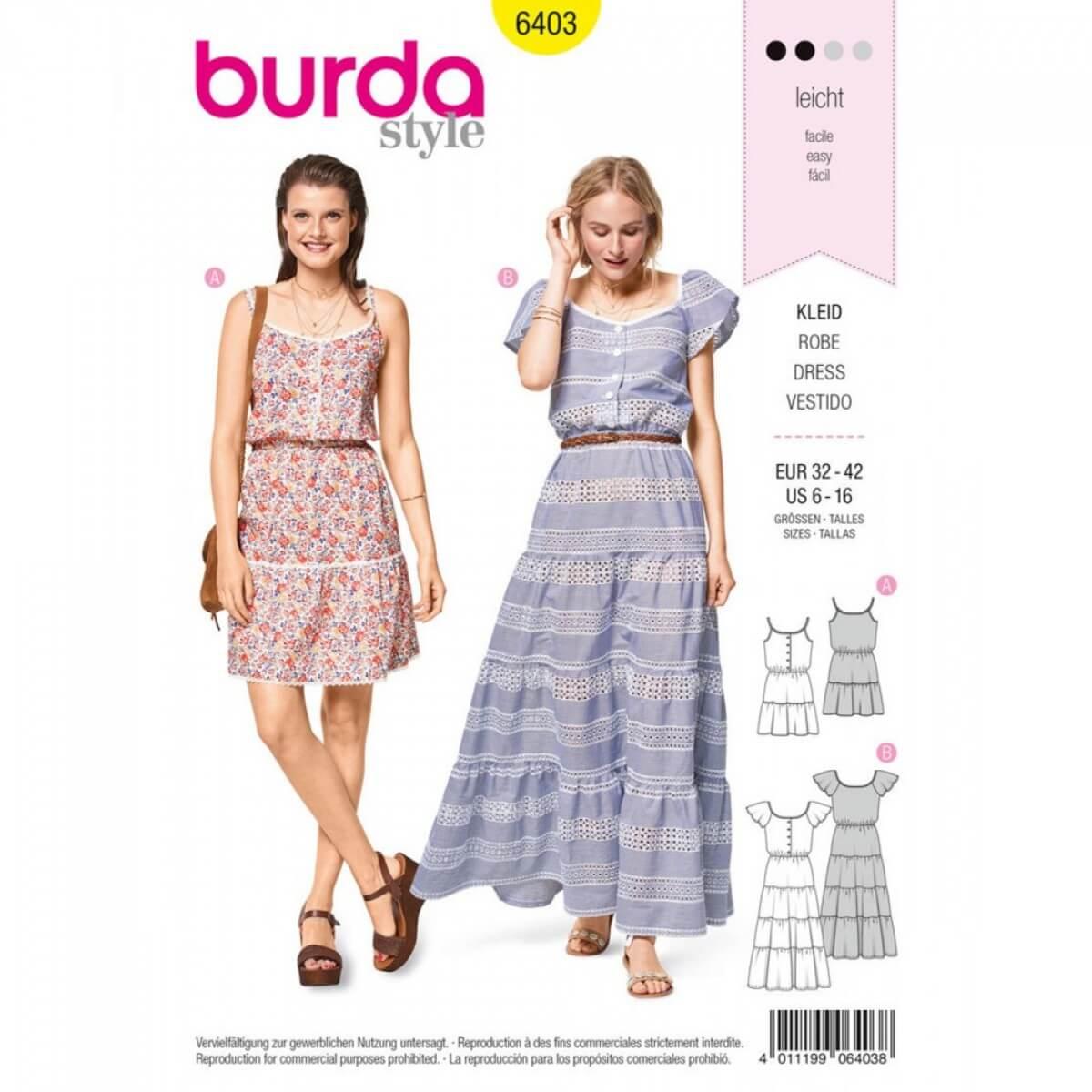 0ad80abe3f867 Patron de robe femme, Burda 6403 - Mercerie Caréfil