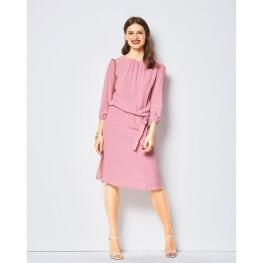 Patron de robe encolure bâteau femme - Burda 6413