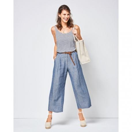 Patron de pantalon ample femme - Burda 6436
