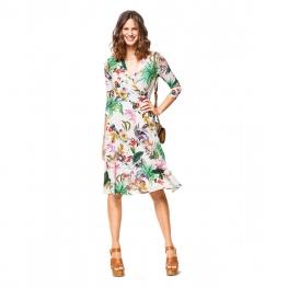 Patron de robe  & t-shirt portefeuille - Burda 6443 pour petite