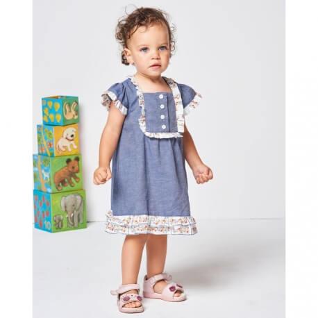 Patron robe et culotte pour bébé 6mois à 3 ans - Burda 9339