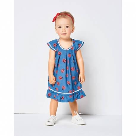 Patron blouse et culotte pour bébé 6m à 3 ans - Burda 9338