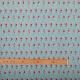 Tissu coton cretonne nageuse, vague & piscine - Bleu & rouge