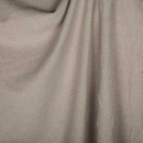Tissu polaire uni ultra doux taupe clair - 100% coton biologique