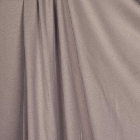 Tissu jersey uni ultra doux taupe - 100% coton biologique