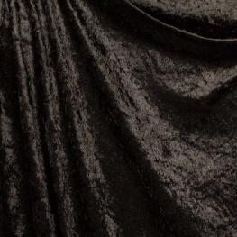 Tissu panne de velours - Noir