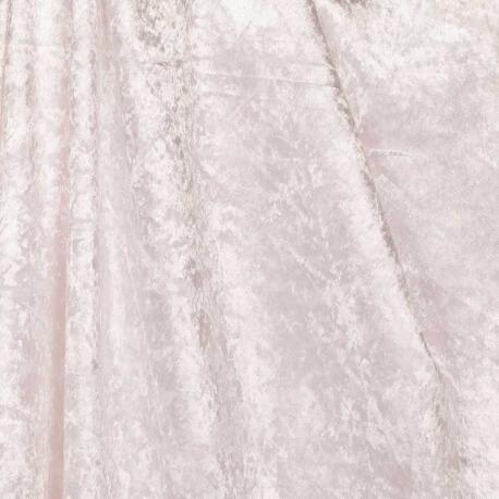 Tissu panne de velours - Blanc
